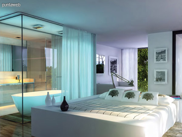 Dormitorio y baño en suite.