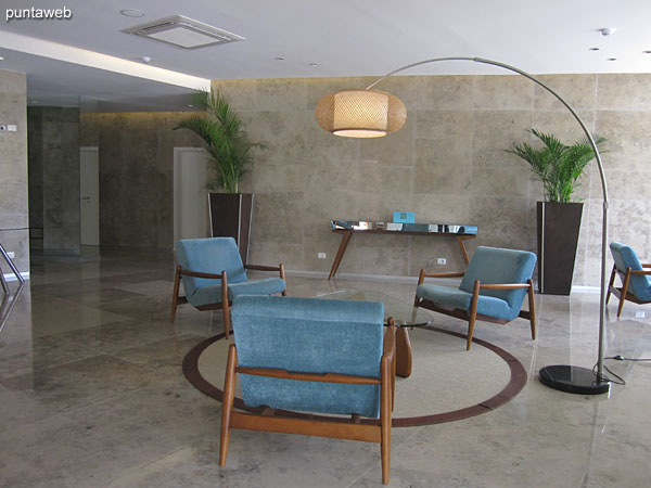 Lobby of the building.