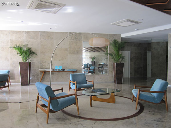 Front desk reception. The building is staffed 24 hrs., CCTV.