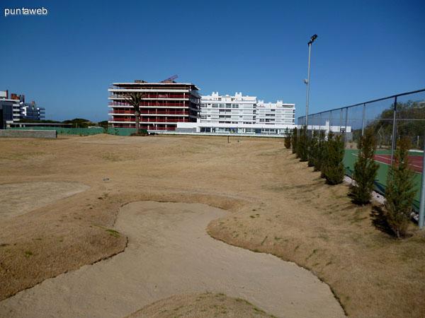 Bunker en campo de golf.