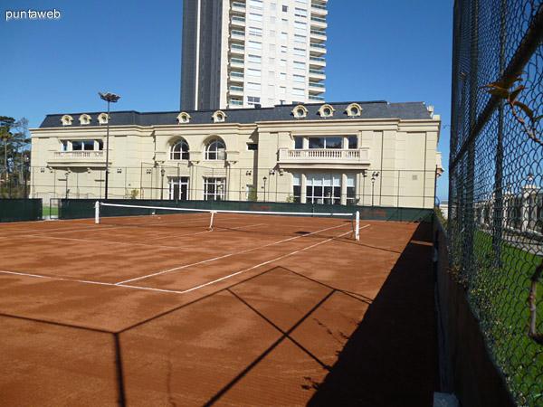Cancha de tenis.