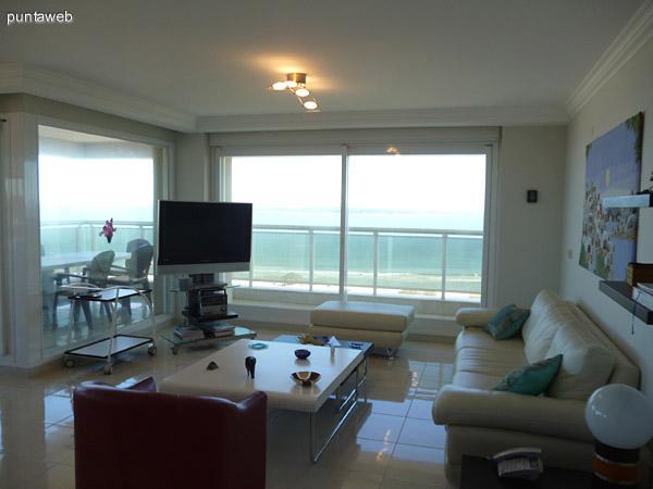 Living y acceso a terraza.
