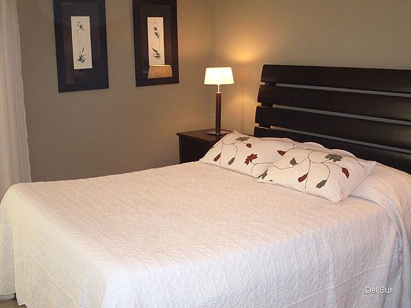 Sommier dos plazas del dormitorio principal.