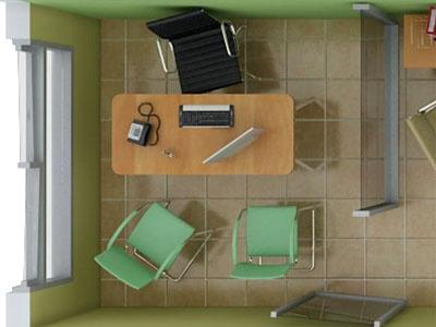 Dormitorio de los apartamentos tipo 3