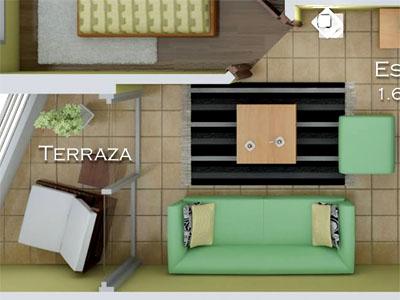 Dormitorio de los apartamentos tipo 2
