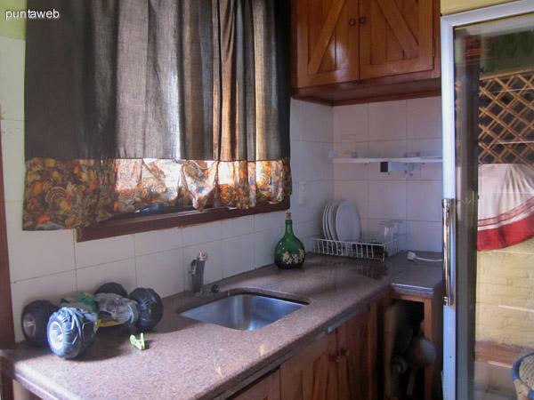 Detalle del ba�o en la casa de hu�spedes.