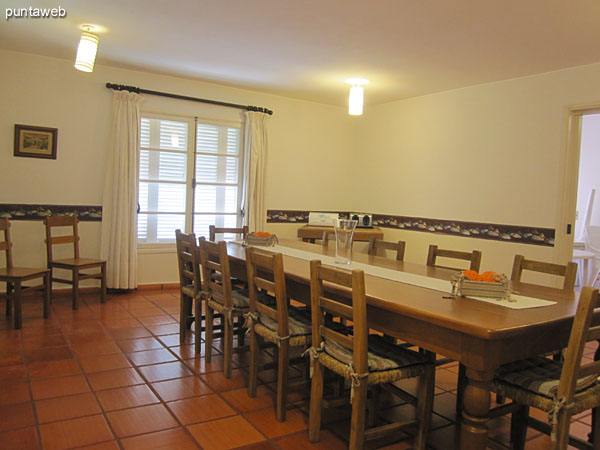 Hall. Located on the west side of the house and furnished with large table for fourteen.