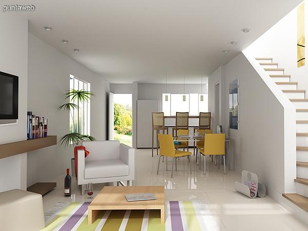 Cocina y comedor integrados best u cocina living con isla for Cocina y lavadero integrados