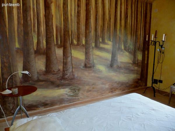 Mural en el tercer dormitorio en suite.