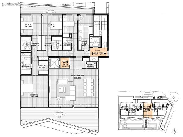 Nivel 2 – B – Unidad 201<br><br>Tipo: 4 ambientes + dependencia<br>Vista: Mar<br>Superficie cubierta: 164.40 m�<br>Superficie expansi�n: 33.80 m�<br>Cochera: opcional<br>Baulera: opcional