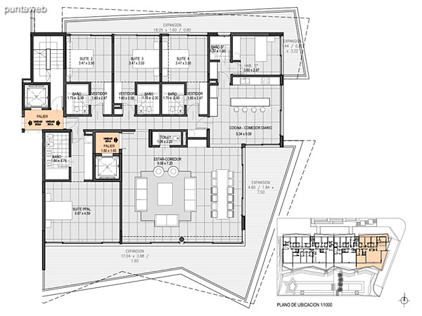 Nivel 3 – A – Unidad 301<br><br>Tipo: 4 ambientes + dependencia<br>Vista: Mar<br>Superficie cubierta: 189.10 m�<br>Superficie expansi�n: 47.00 m�<br>Cochera: opcional<br>Baulera: opcional