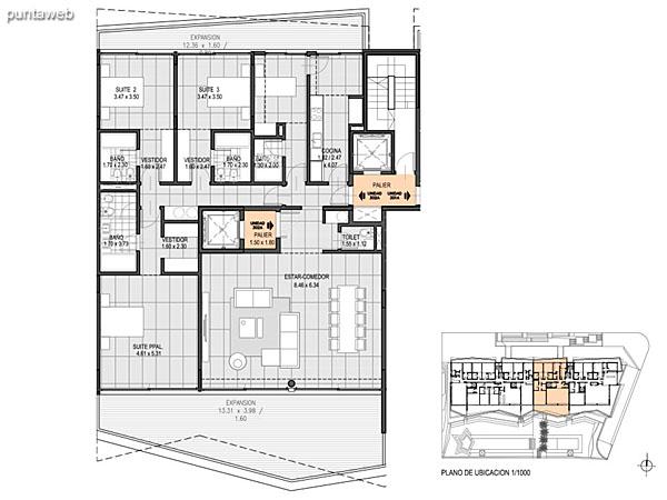 Nivel 3 – B – Unidad 301<br><br>Tipo: 4 ambientes + dependencia<br>Vista: Mar<br>Superficie cubierta: 163.20 m�<br>Superficie expansi�n: 31.30 m�<br>Cochera: opcional<br>Baulera: opcional
