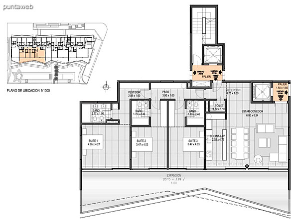 Nivel 3 – B – Unidad 302<br><br>Tipo: 4 ambientes<br>Vista: Mar<br>Superficie cubierta: 150.40 m�<br>Superficie expansi�n: 47.70 m�<br>Cochera: opcional<br>Baulera: opcional