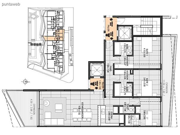Nivel 3 – B – Unidad 303<br><br>Tipo: 3 ambientes + dependencia<br>Vista: Mar<br>Superficie cubierta: 116.50 m�<br>Superficie expansi�n: 23.30 m�<br>Cochera: opcional<br>Baulera: opcional