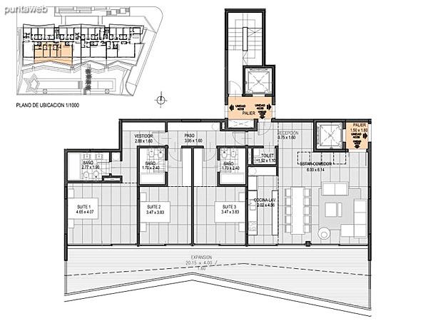 Nivel Penthouse – B – Unidad 402<br><br>Tipo: 4 ambientes<br>Vista: Mar<br>Superficie cubierta: 146.50 m�<br>Superficie expansi�n: 43.00 m�<br>Cochera: opcional<br>Baulera: opcional
