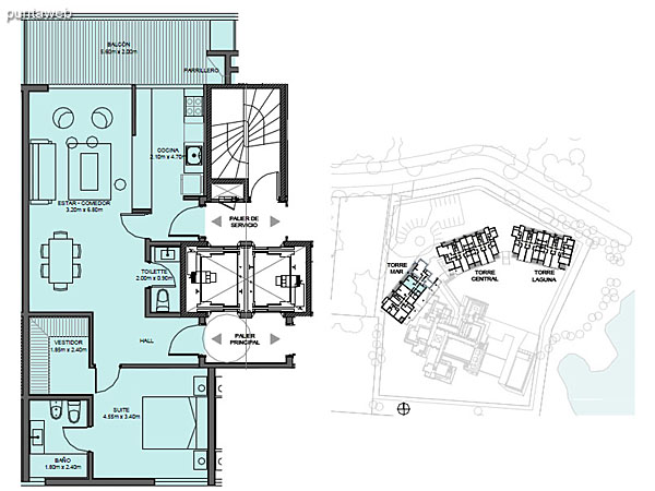 Torre Mar – Unidad F – 1 suite<br><br>Superficie cubierta: 68.65 m²<br>Superficie semi cubierta: 11.69 m²<br>Baulera: 2 m²<br>Circulación: 14.15 m²<br>Total: 96.49 m²