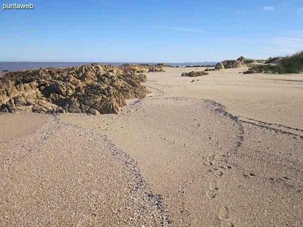 Punta Piedras beach in front of El Chorro.
